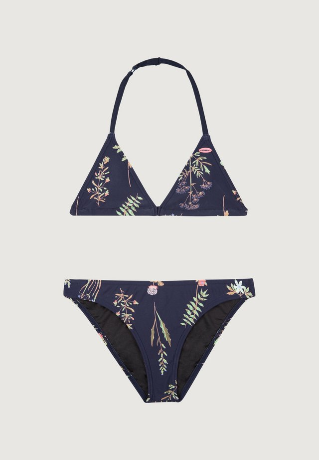VENICE - Bikini - blue aop w/ pink or purple