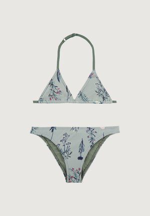 VENICE - Bikini - green aop w/ pink or purple