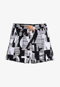 O'Neill - STRIKE OUT SHORTS - Shorts da mare - black/white - 4