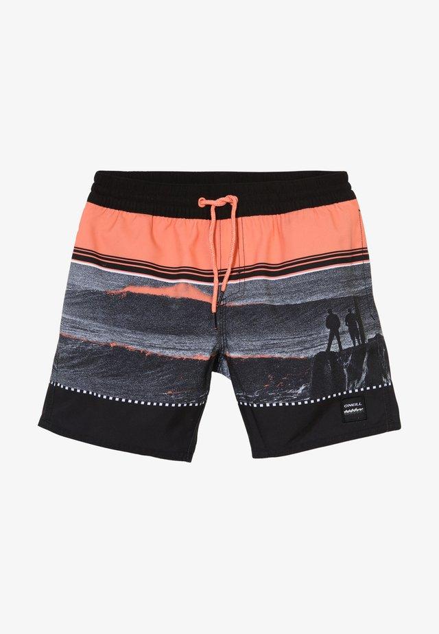 THE POINT - Zwemshorts - schwarz orange
