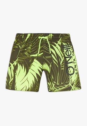 CALI FLORAL - Shorts da mare - green/yellow