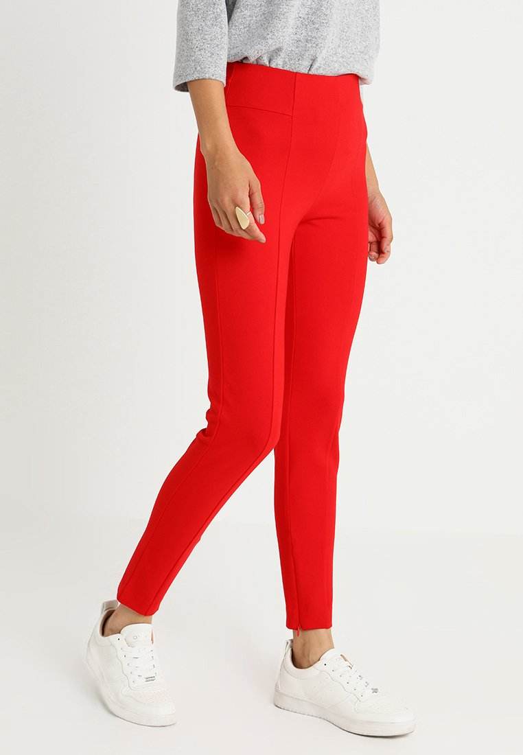 one more story - TROUSER - Stoffhose - lipstick red