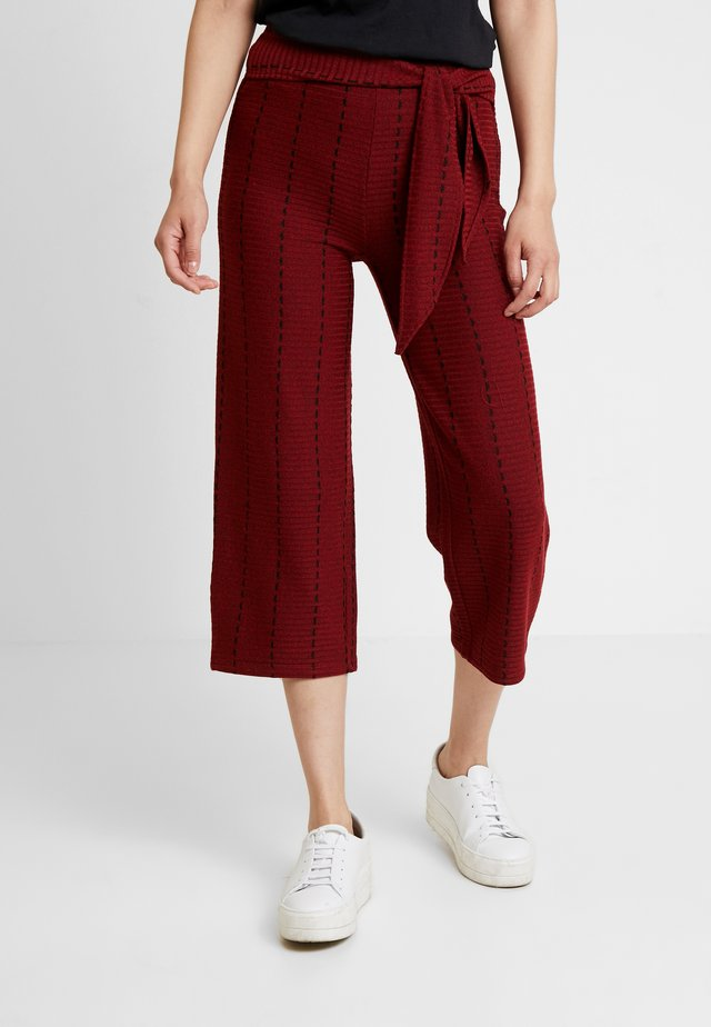 TROUSER - Stoffhose - earth red