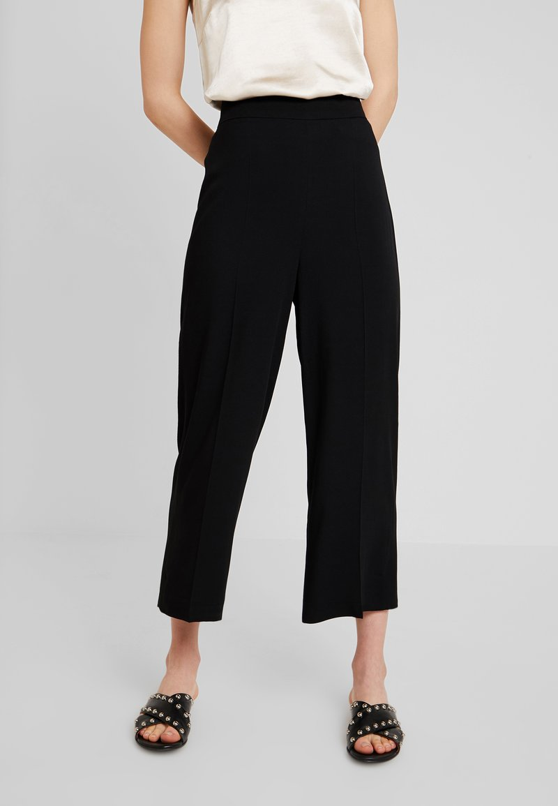 one more story - TROUSER - Stoffhose - black
