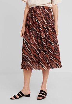 SKIRT - A-line skirt - coffee caramel