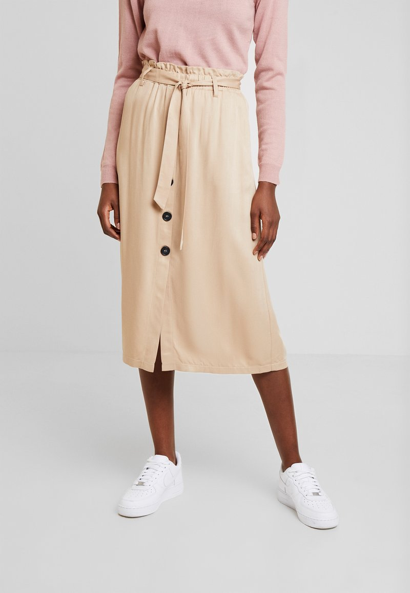 one more story - SKIRT - Jupe trapèze - beige