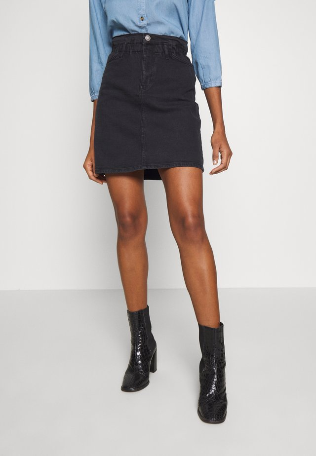 SKIRT - A-linjainen hame - black washed