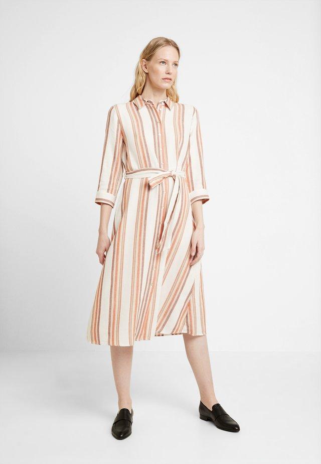 DRESS - Skjortekjole - offwhite/multi color