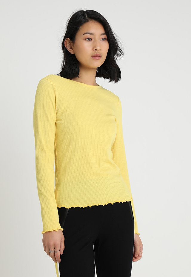 Langarmshirt - sunshine yellow