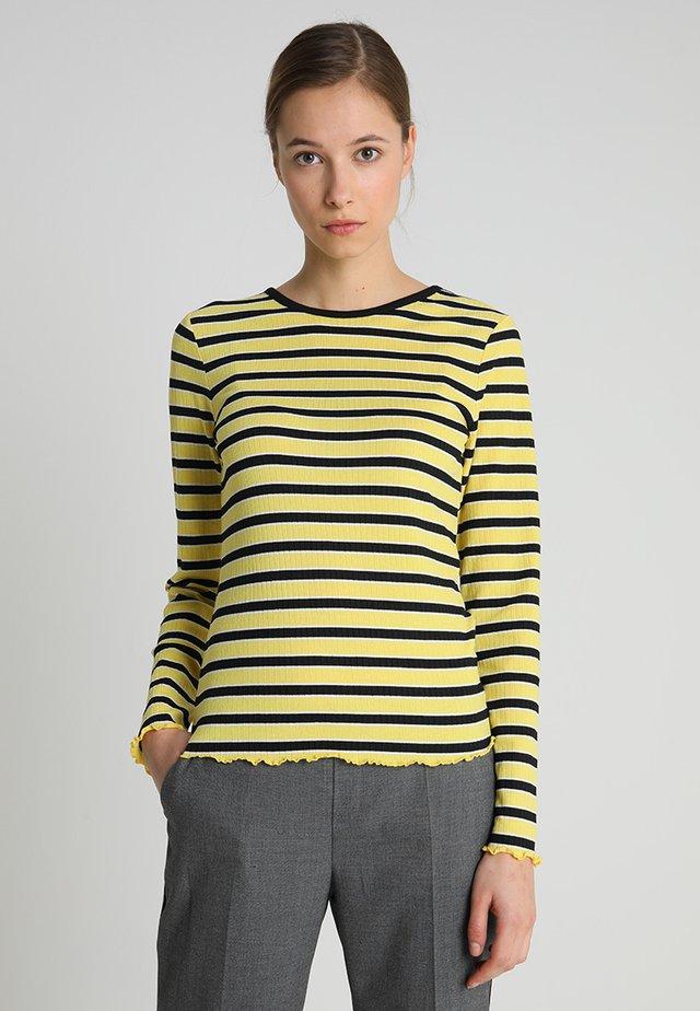 Langærmede T-shirts - black/multi color