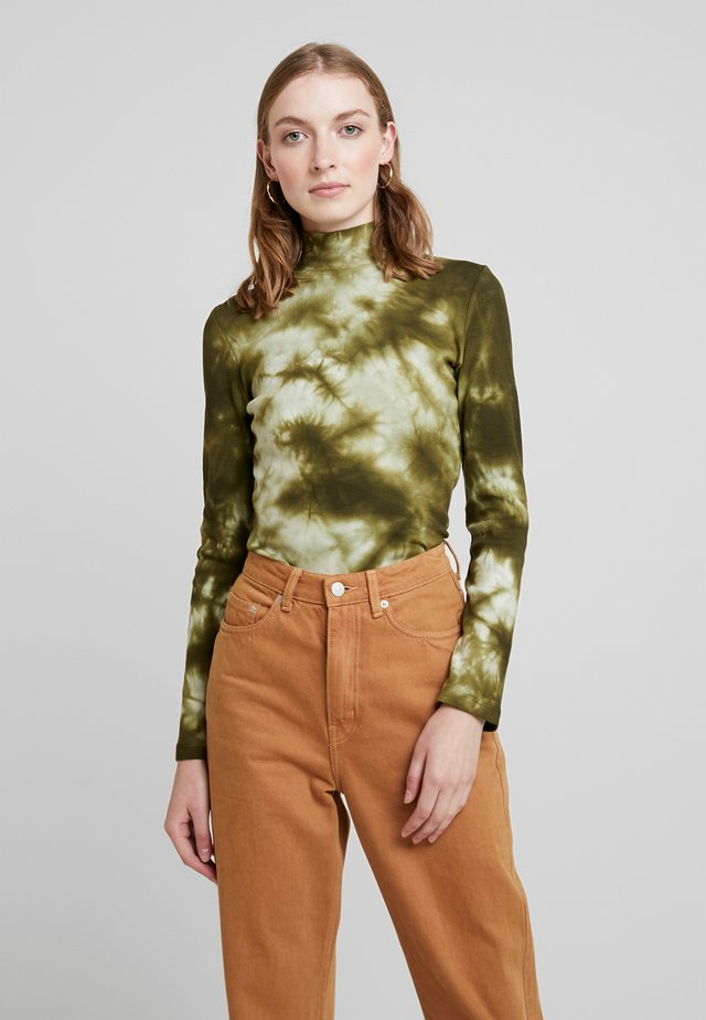 Long sleeved top - military olive