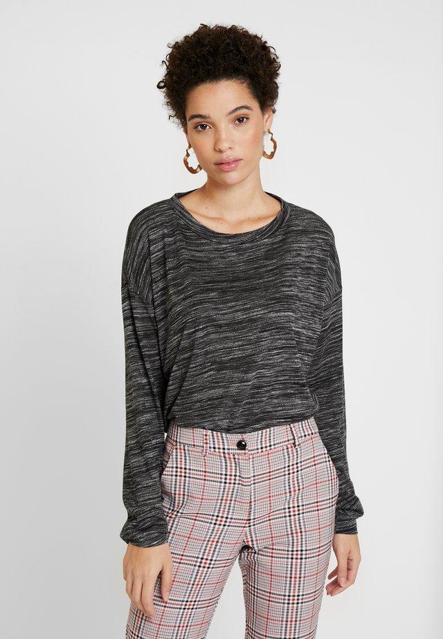 Langærmede T-shirts - dark grey