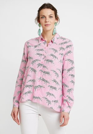 Button-down blouse - sweet pink multicolor