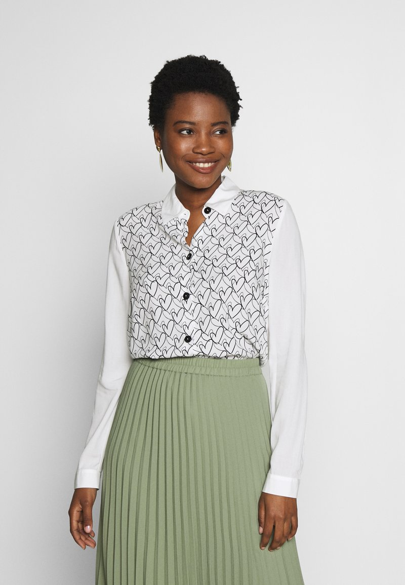 one more story - BLOUSE - Button-down blouse - offwhite
