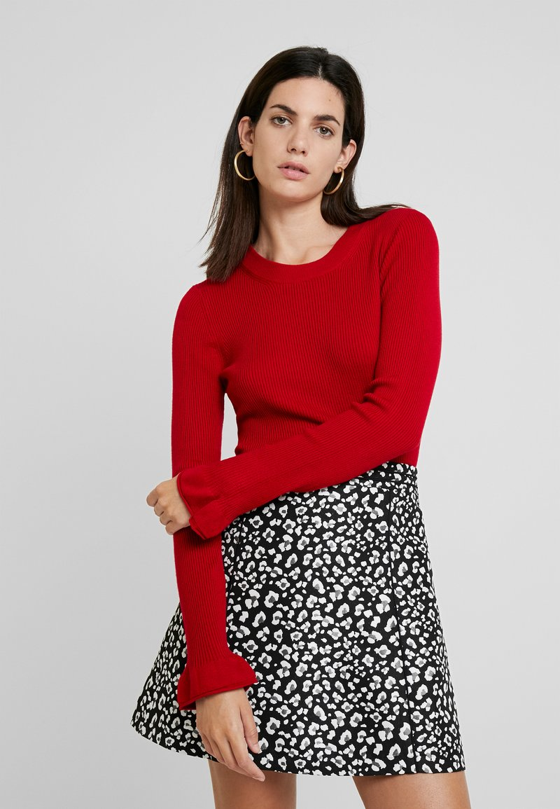 one more story - Pullover - salsa red