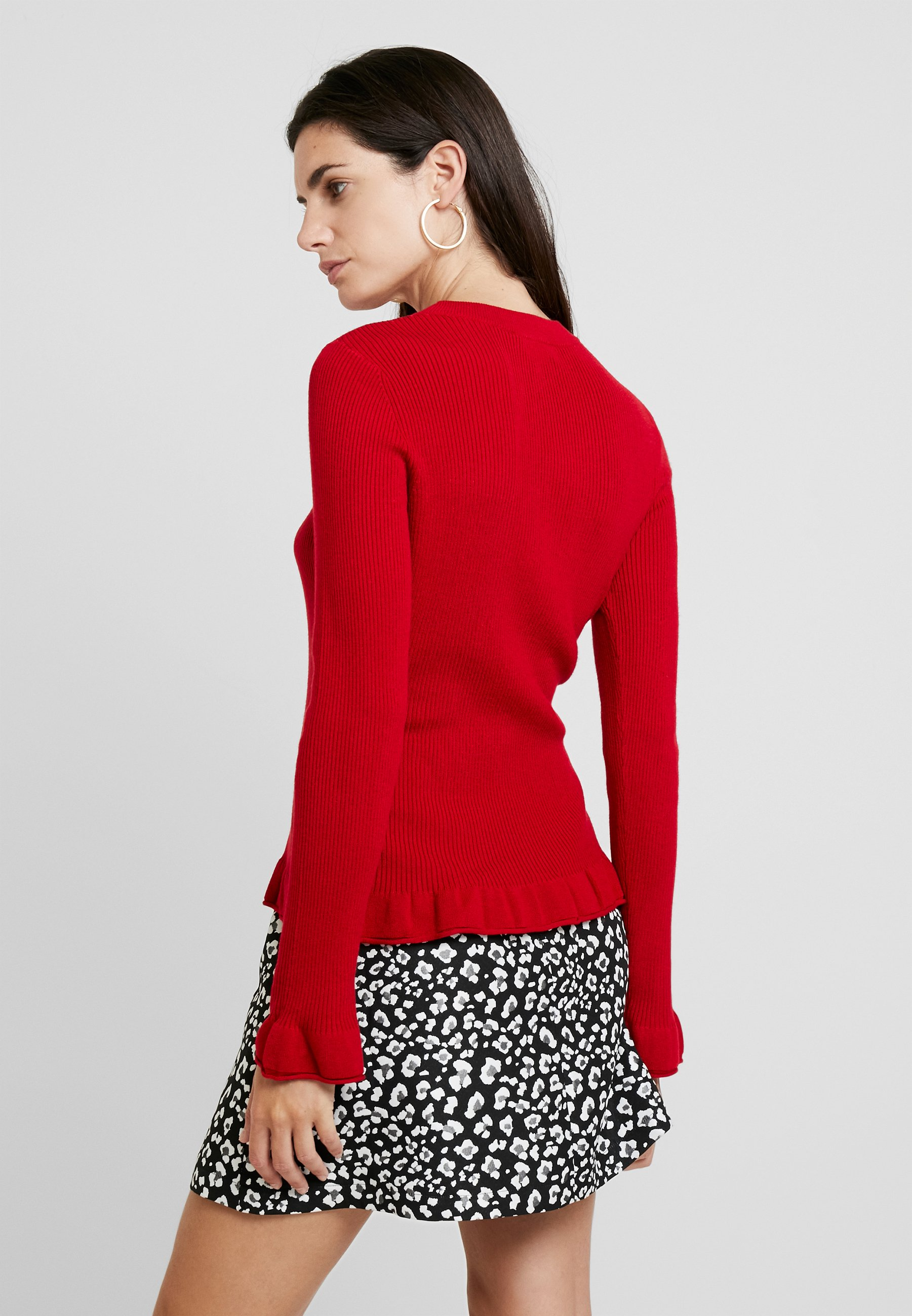 one more story Jersey de punto salsa red