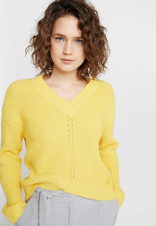 PULLOVER - Strikpullover /Striktrøjer - sunshine yellow