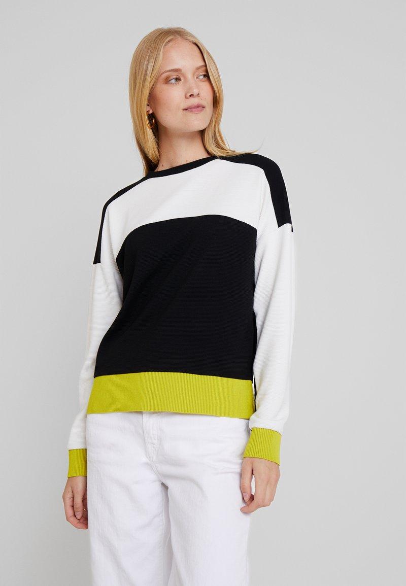 one more story - Sweatshirt - bright lemon/multicolor