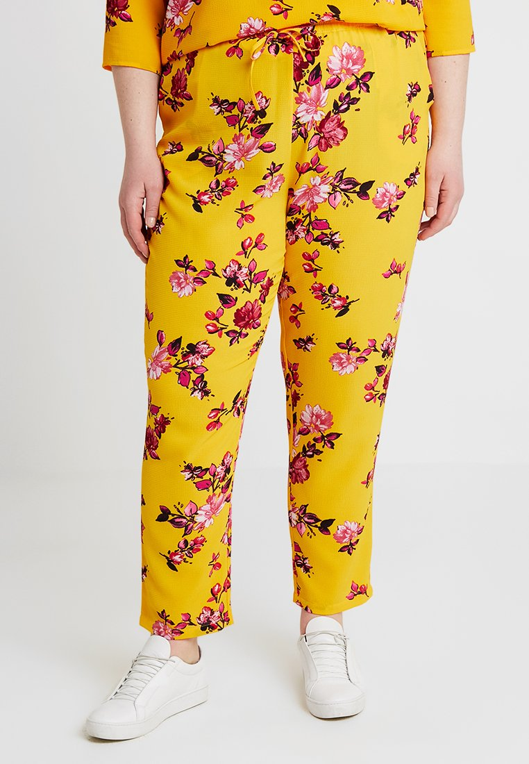 ONLY Carmakoma - CARLUX  PANTS - Trousers - yellow