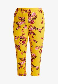 ONLY Carmakoma - CARLUX  PANTS - Trousers - yellow - 3