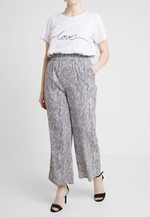 CARRILEY WIDE PANTS ANKLE LENGTH - Pantaloni - black