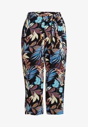 CARLUXSAINT CROPPED PANTS - Trousers - black