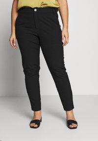 ONLY Carmakoma - CARRIDE PANTS - Spodnie materiałowe - black - 0
