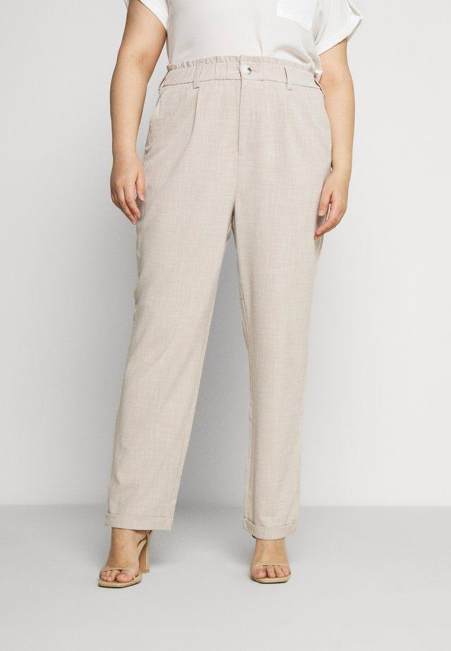 CARNANO LONG PANT - Spodnie materiałowe - pumice stone melange