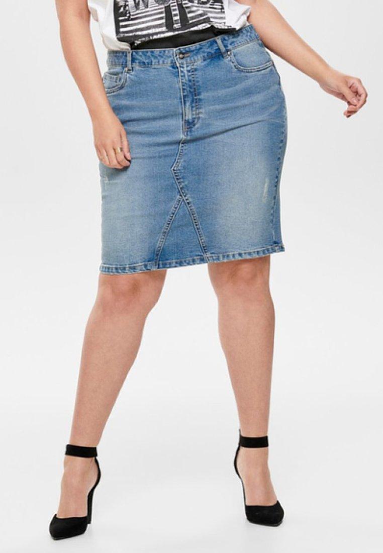 ONLY Carmakoma - Gonna di jeans - medium blue denim