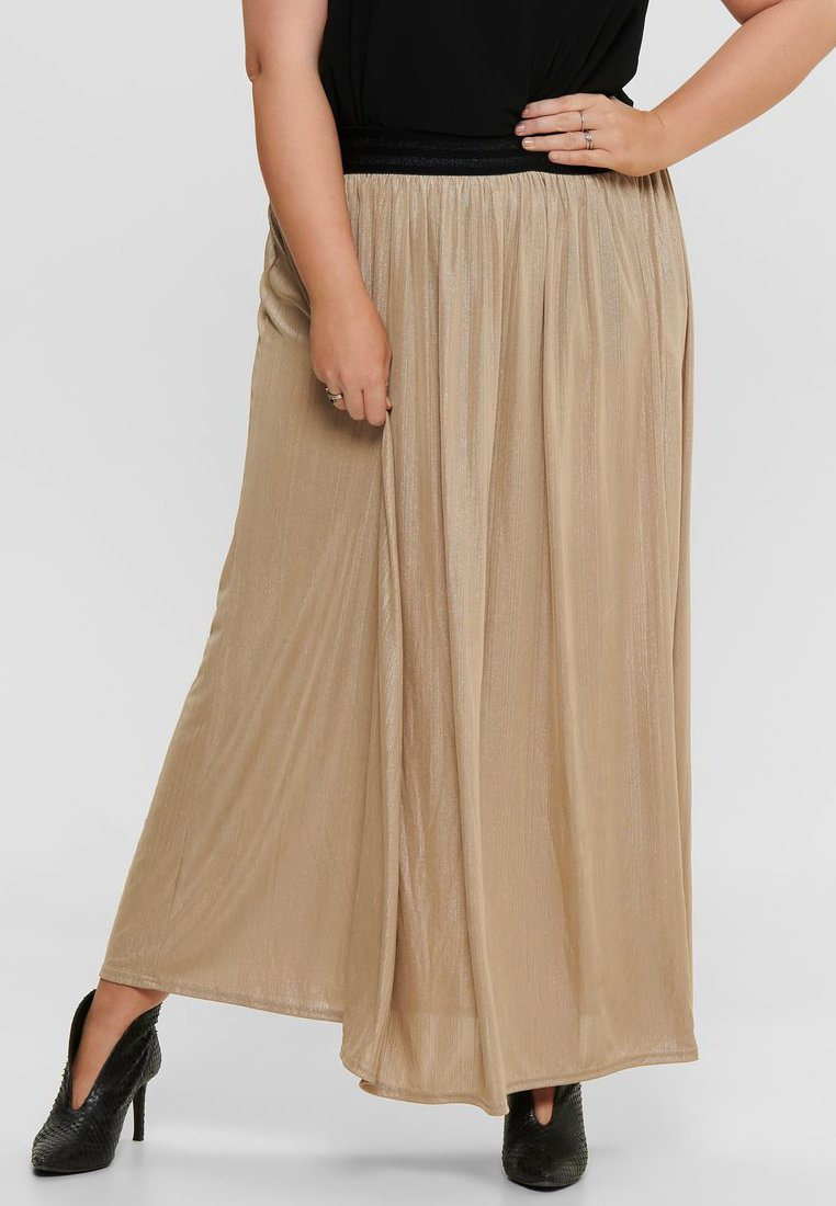 ONLY Carmakoma - FALTEN - Pleated skirt - frosted almond