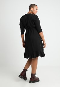 ONLY Carmakoma - CARNUT 3/4 WRAP DRESS SOLID - Day dress - black - 2