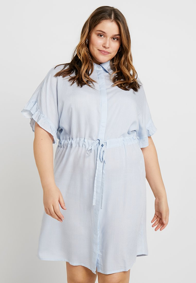 ONLY Carmakoma - CARCARVI DRESS - Skjortekjole - marina