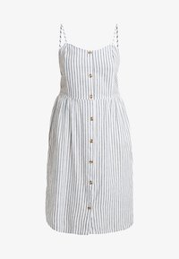 ONLY Carmakoma - CARUNA STRAP STRIPE DRESS - Skjortklänning - white/blue - 5