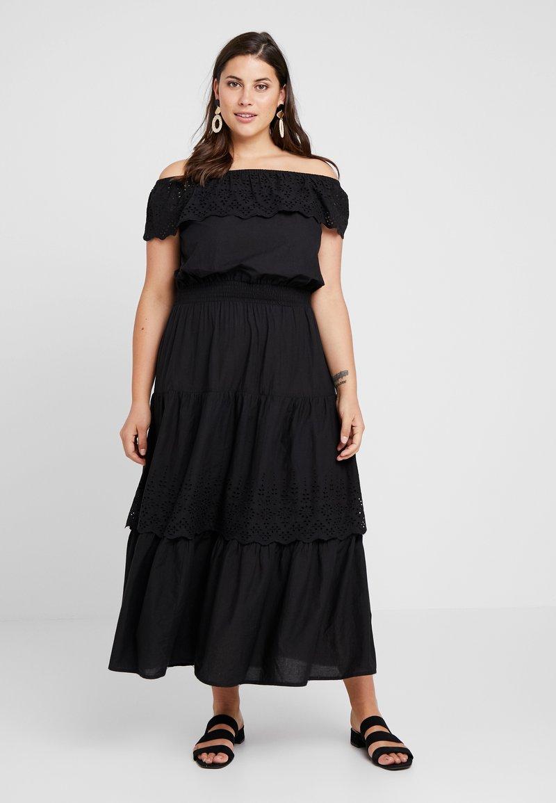 ONLY Carmakoma - CARLUCY OFFSHOULDER DRESS - Maxiklänning - black