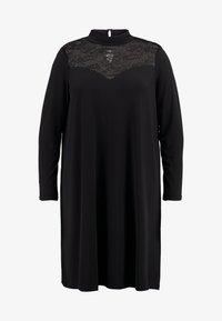 ONLY Carmakoma - CARKAYA KNEE DRESS - Vestido ligero - black - 3