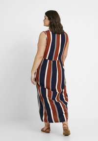 ONLY Carmakoma - CARBAX DRESS - Maxi dress - ginger bread/blue/white - 2