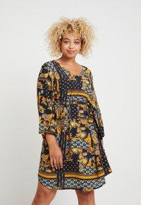 ONLY Carmakoma - CARMAEMALOU  DRESS - Korte jurk - black - 0