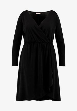 CARCAROLEI KNEE DRESS - Robe en jersey - black