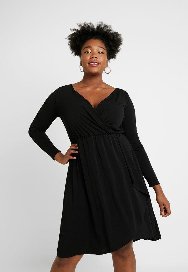 CARCAROLEI KNEE DRESS - Žerzejové šaty - black