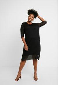 ONLY Carmakoma - CARSISSEL KNEE DRESS - Vestido ligero - black - 2