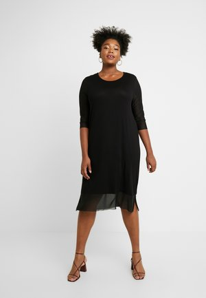 CARSISSEL KNEE DRESS - Robe en jersey - black