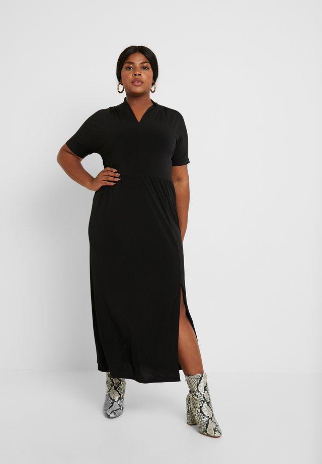 CARELINA DRESS - Trikoomekko - black
