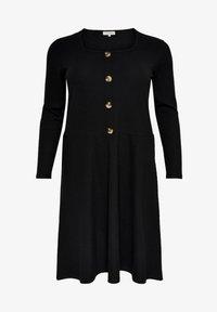 ONLY Carmakoma - MIT LANGEN ÄRMELN CURVY - Gebreide jurk - black - 4