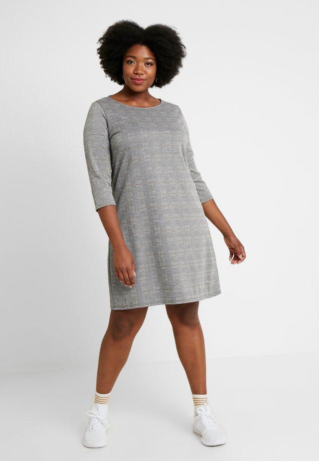 CARJOLLY 3/4 CHECK DRESS - Žerzejové šaty - black