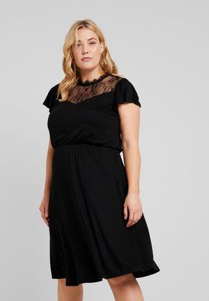 CARFLAVOR KNEE DRESS - Žerzejové šaty - black