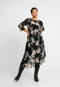 ONLY Carmakoma - CARMYRA 3/4 CALF DRESS - Jerseykjole - black - 2