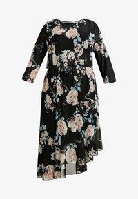 ONLY Carmakoma - CARMYRA 3/4 CALF DRESS - Vestido ligero - black - 5