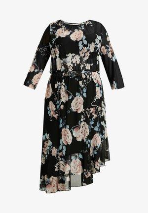 CARMYRA 3/4 CALF DRESS - Jerseyjurk - black