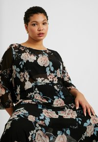 ONLY Carmakoma - CARMYRA 3/4 CALF DRESS - Jerseykjole - black - 4