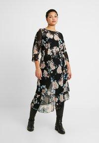 ONLY Carmakoma - CARMYRA 3/4 CALF DRESS - Vestido ligero - black - 0